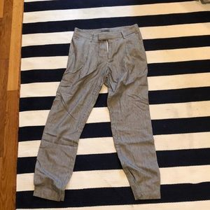Vince cropped stripped pants